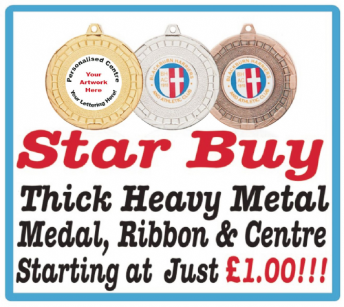 50mm Metal Medal Special Offer